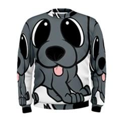 Newfie Gray Cartoon Men s Sweatshirt