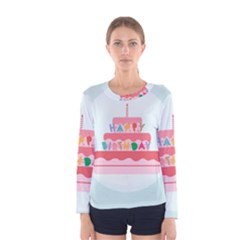 Birthday Cake Women s Long Sleeve Tee