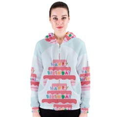 Birthday Cake Women s Zipper Hoodie