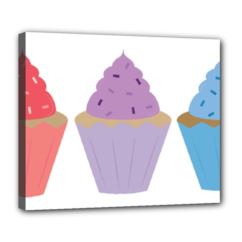 Cupcakes Deluxe Canvas 24  x 20