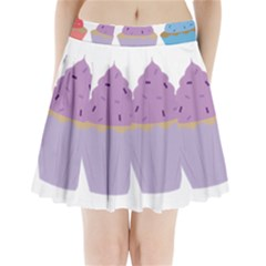 Cupcakes Pleated Mini Skirt