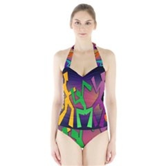 Dance Dance Dance Halter Swimsuit