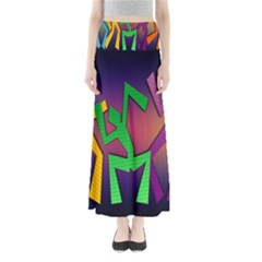 Dance Dance Dance Full Length Maxi Skirt
