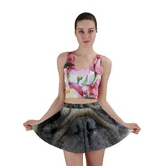 Pug Fawn Eyes Mini Skirt