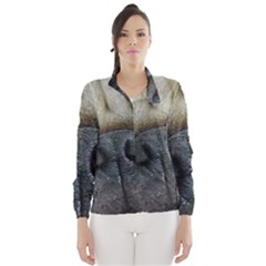 Pug Fawn Eyes Wind Breaker (Women)