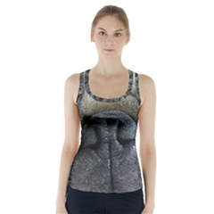 Pug Fawn Eyes Racer Back Sports Top