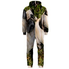 Pug Fawn Full Hooded Jumpsuit (Men)