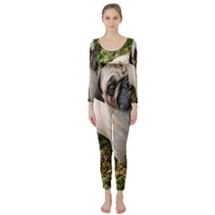 Pug Fawn Full Long Sleeve Catsuit