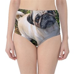 Pug Fawn Full High-Waist Bikini Bottoms