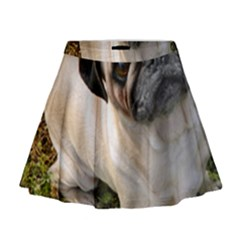 Pug Fawn Full Mini Flare Skirt