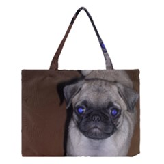 Pug Full 5 Medium Tote Bag