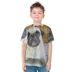 Pug Laying Kids  Cotton Tee