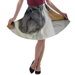 Pug Laying A-line Skater Skirt