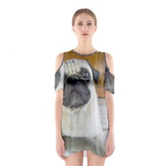 Pug Laying Shoulder Cutout One Piece
