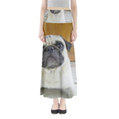 Pug Laying Full Length Maxi Skirt