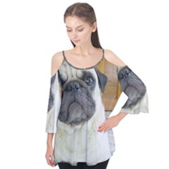 Pug Laying Flutter Tees