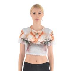Flamingo Absract Cotton Crop Top