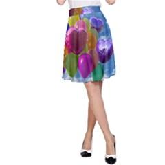Balloons A-Line Skirt