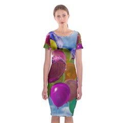 Balloons Classic Short Sleeve Midi Dress