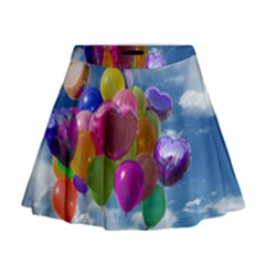 Balloons Mini Flare Skirt