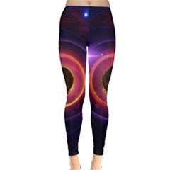 The Little Astronaut on a Tiny Fractal Planet Leggings
