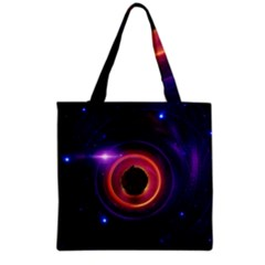 The Little Astronaut on a Tiny Fractal Planet Grocery Tote Bag