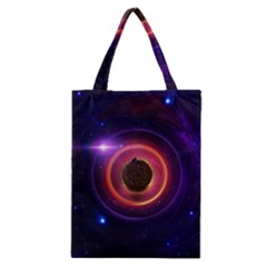 The Little Astronaut on a Tiny Fractal Planet Classic Tote Bag
