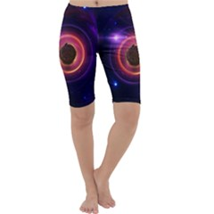 The Little Astronaut on a Tiny Fractal Planet Cropped Leggings