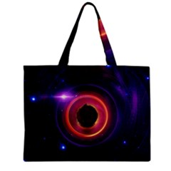 The Little Astronaut on a Tiny Fractal Planet Zipper Mini Tote Bag