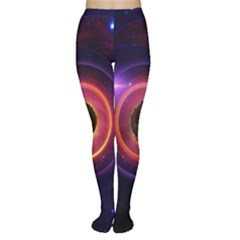The Little Astronaut on a Tiny Fractal Planet Women s Tights