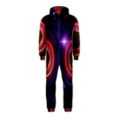 The Little Astronaut on a Tiny Fractal Planet Hooded Jumpsuit (Kids)