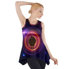 The Little Astronaut on a Tiny Fractal Planet Side Drop Tank Tunic
