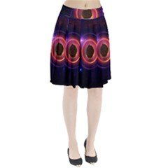 The Little Astronaut on a Tiny Fractal Planet Pleated Skirt