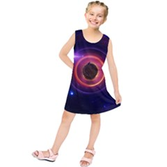 The Little Astronaut on a Tiny Fractal Planet Kids  Tunic Dress