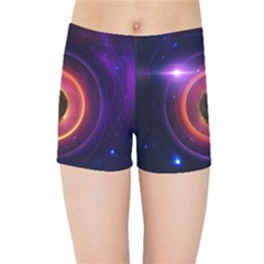 The Little Astronaut On A Tiny Fractal Planet Kids Sports Shorts