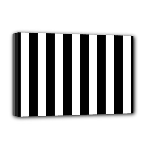Classic Black and White Football Soccer Referee Stripes Deluxe Canvas 18  x 12