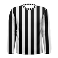 Classic Black and White Football Soccer Referee Stripes Men s Long Sleeve Tee