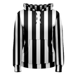 Classic Black and White Football Soccer Referee Stripes Women s Pullover Hoodie