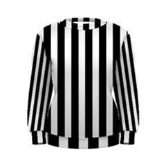 Classic Black and White Football Soccer Referee Stripes Women s Sweatshirt