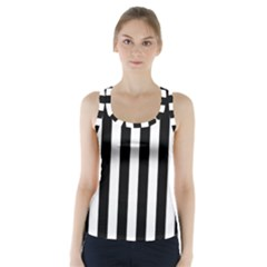 Classic Black and White Football Soccer Referee Stripes Racer Back Sports Top