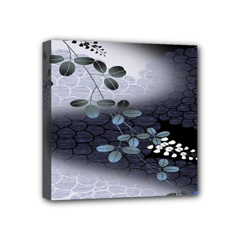 Abstract Black And Gray Tree Mini Canvas 4  x 4