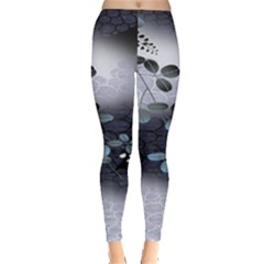 Abstract Black And Gray Tree Leggings