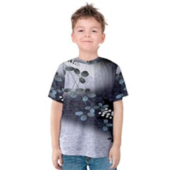 Abstract Black And Gray Tree Kids  Cotton Tee