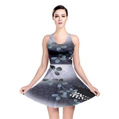 Abstract Black And Gray Tree Reversible Skater Dress
