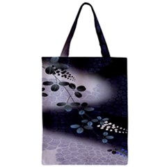 Abstract Black And Gray Tree Zipper Classic Tote Bag
