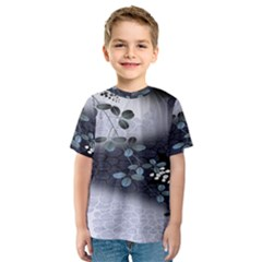 Abstract Black And Gray Tree Kids  Sport Mesh Tee