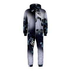 Abstract Black And Gray Tree Hooded Jumpsuit (Kids)