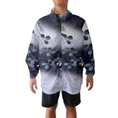 Abstract Black And Gray Tree Wind Breaker (Kids)