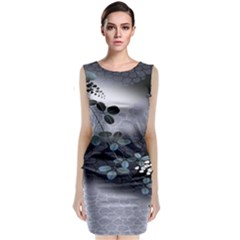 Abstract Black And Gray Tree Classic Sleeveless Midi Dress