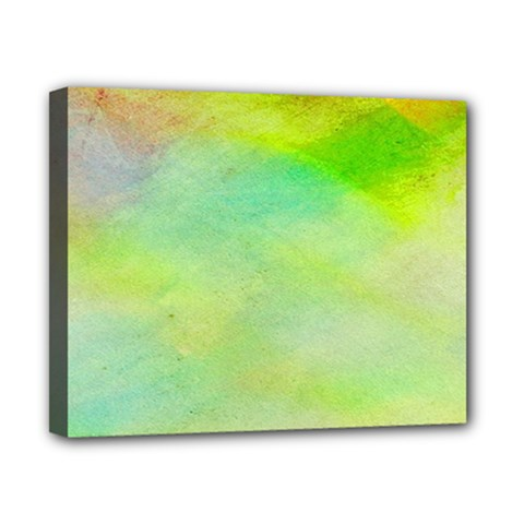 Abstract Yellow Green Oil Canvas 10  X 8